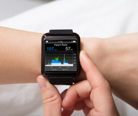 Smart watch motion monitoring Stock Photo 01