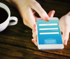 Smartphone payment service Stock Photo 01