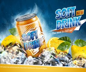 Soft drink advertising poster vector 01