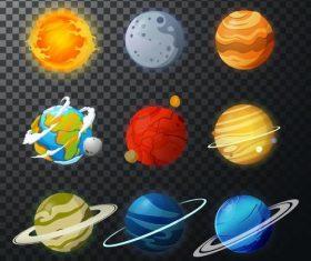 Solar system planet illustration vector 05