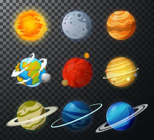 Solar system planet illustration vector 05