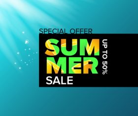 Special offere sale summer poster vector 01