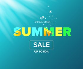 Special offere sale summer poster vector 02