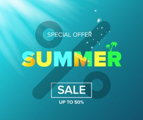 Special offere sale summer poster vector 03