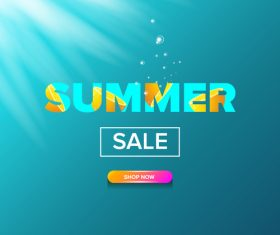 Special offere sale summer poster vector 05