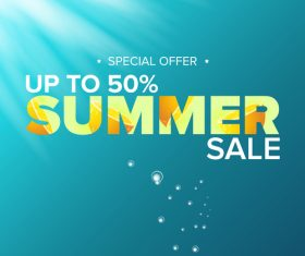 Special offere sale summer poster vector 06