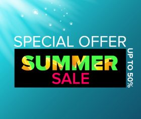 Special offere sale summer poster vector 08