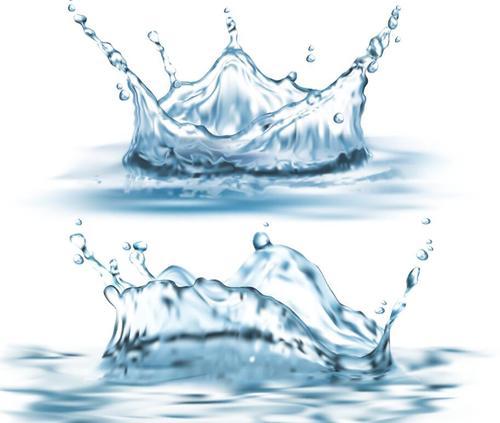 Splashing waters illustration vector 01