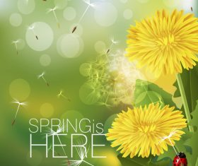 Spring fresh flower and blurs background vector 02