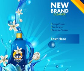 Stain remover poster template vector 01