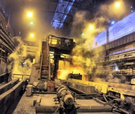 Steelmaking plant Stock Photo