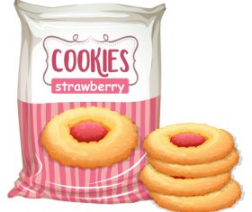 Strawbrry cookies design vector