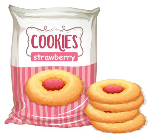 Strawbrry cookies design vector