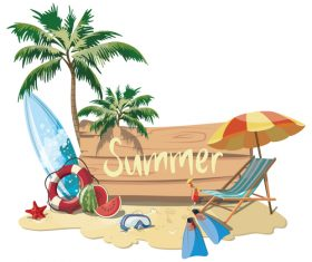 Summer diving travel vector