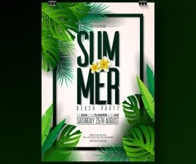 Summer party flyer template vectors
