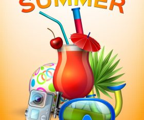 Summer poster cover template vector 01