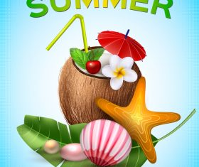 Summer poster cover template vector 02