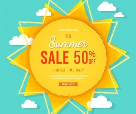 Summer sale background with cloud vector