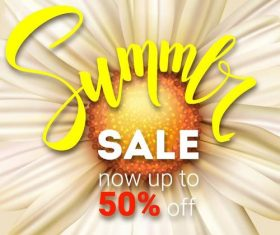 Summer sale background with sunflower vector