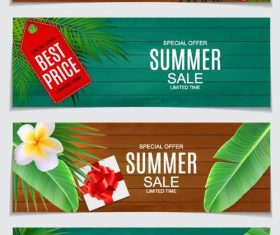 Summer sale banners template vector 02