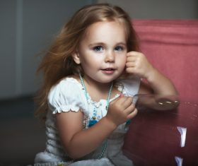 Super cute little girl Stock Photo 01