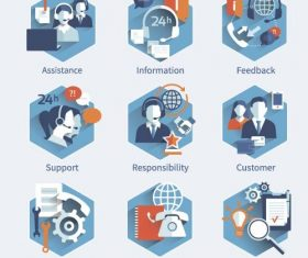 Support service infographic illustration vector