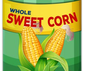Sweet corn canned vector