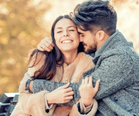 Sweet couple outdoor dating Stock Photo 01
