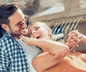 Sweet couple outdoor dating Stock Photo 04