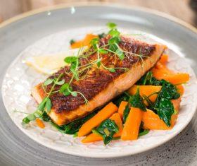 Tasty Fish Dishes Stock Photo 02