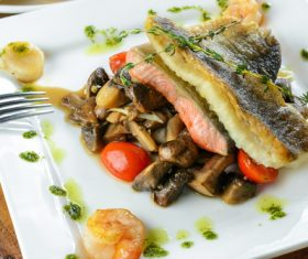 Tasty Fish Dishes Stock Photo 03