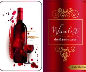 Template of wine list vector material 02