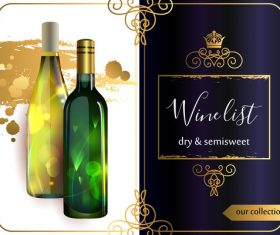 Template of wine list vector material 03