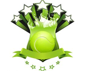 Tennis emblem design vector