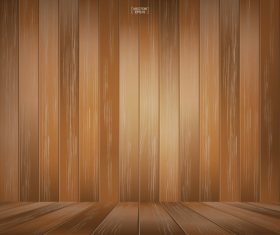 Texture wooden board background vector