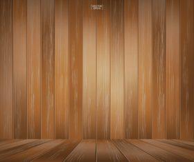 Texture wooden board background vector