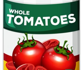 Tomato canned vector