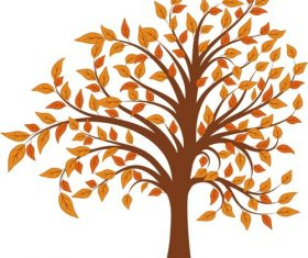 Tree cartoon material vector
