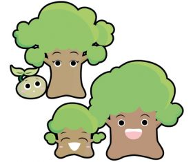 Tree family vector