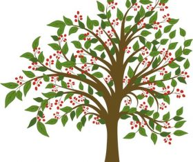 Trees cartoon vector material