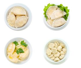 Ukrainian delicacies Vareniki Stock Photo 05