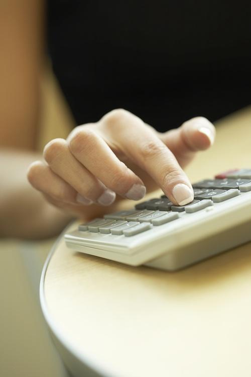 Use the calculator Stock Photo