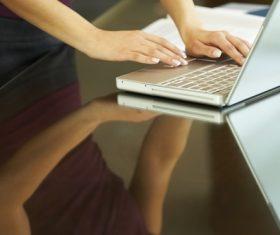 Using laptop Stock Photo 01