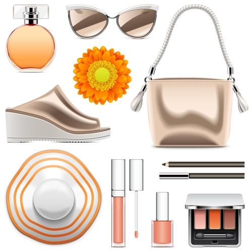 Vector Fashion Accessories Set 4