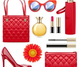 Vector Fashion Accessories Set 5