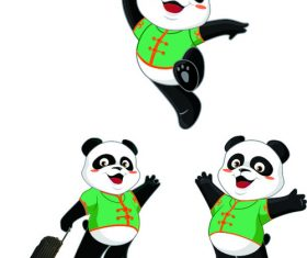 Vector cartoon panda