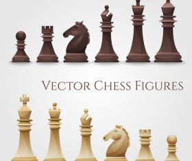 Vector figure chess illustration