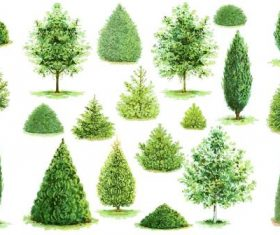 Vector tree illustration material 02