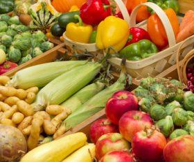 Vegetable market stall Stock Photo