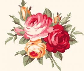 Vintage bouquet vector